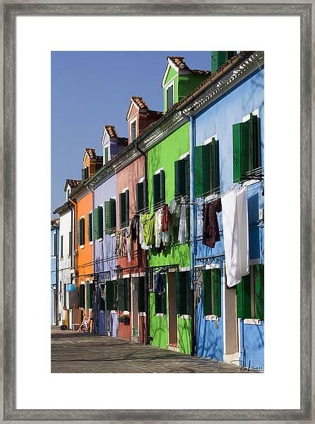 Happy Houses Framed Print