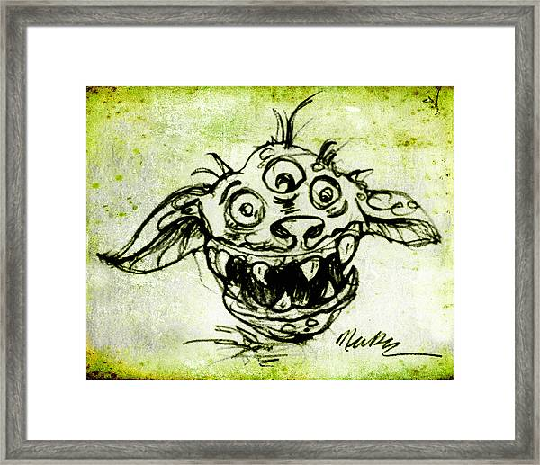 Happy Monster  Framed Print