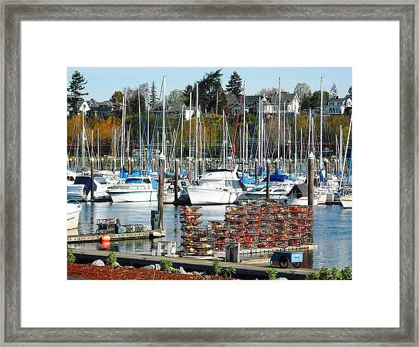 Harbor At Bellingham Framed Print