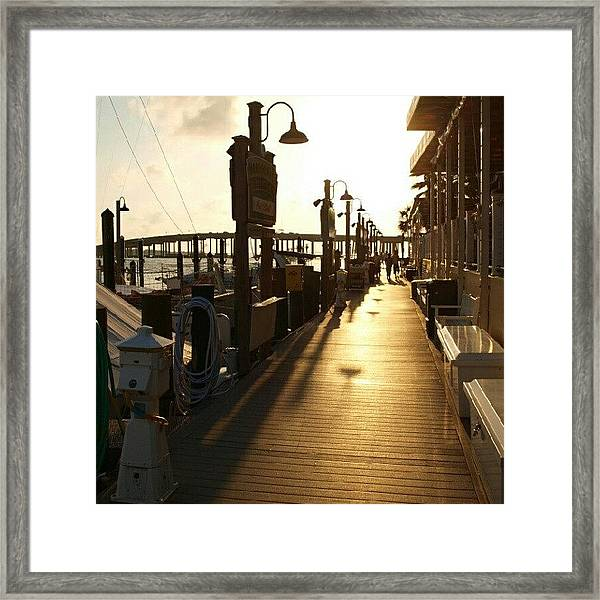 Harbor Walk Destin Florida Framed Print
