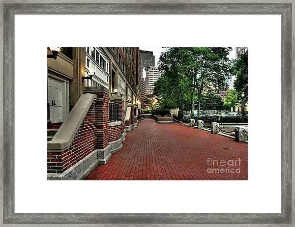 Harbor Walkway Framed Print