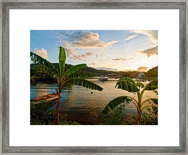 Harbour Sunset 2 Framed Print
