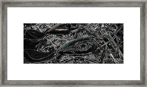 Harley Davidson Style 2 Framed Print