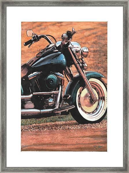 Harley Softtail Framed Print