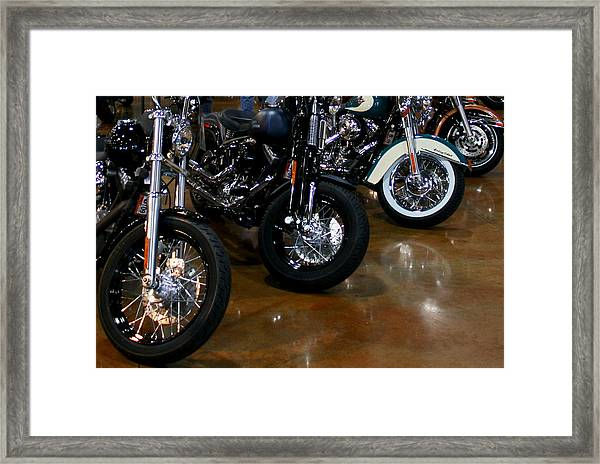 Harley Wheels Framed Print