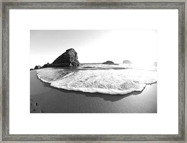 Harris Beach State Park Monochrome Framed Print