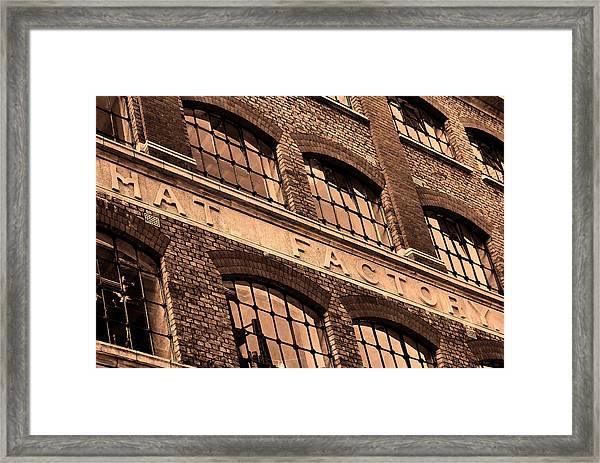 Hat Factory Framed Print