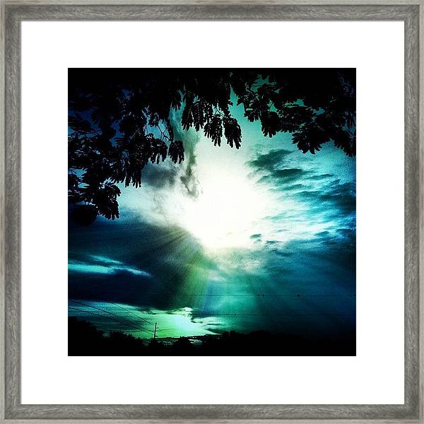 Have A #good #evening #friends Framed Print