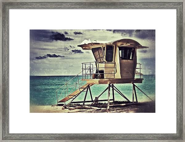 Hawaii Life Guard Tower 1 Framed Print
