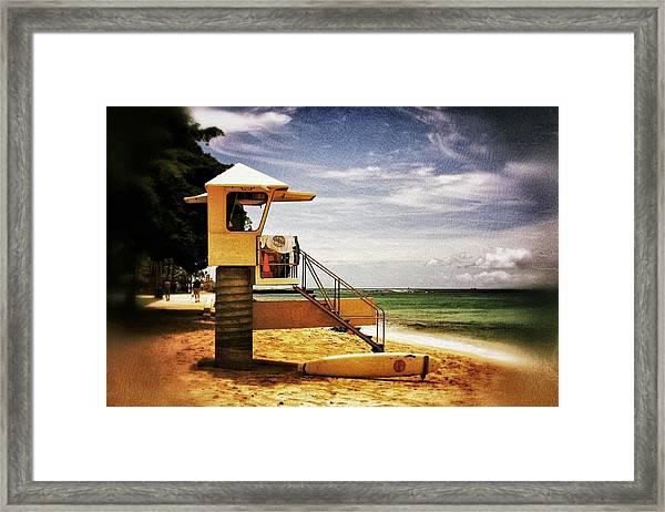 Hawaii Lifeguard Tower 2 Framed Print