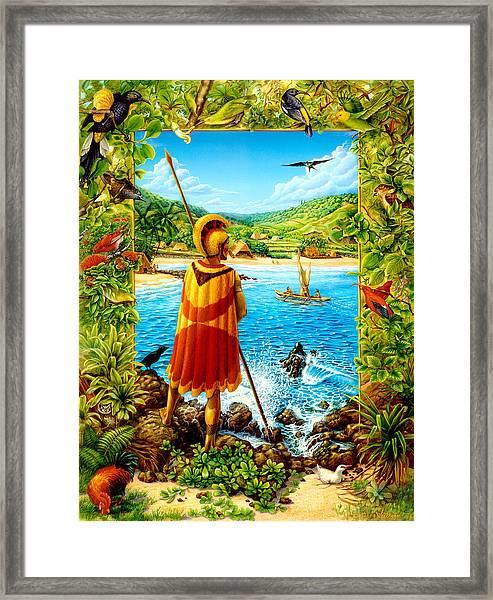 He Hula Ali'i Framed Print
