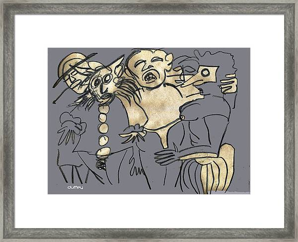 He Overdid It At The Parade Framed Print