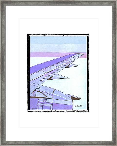 Headed Somewhere In Flight Framed Print by Robert Boyette