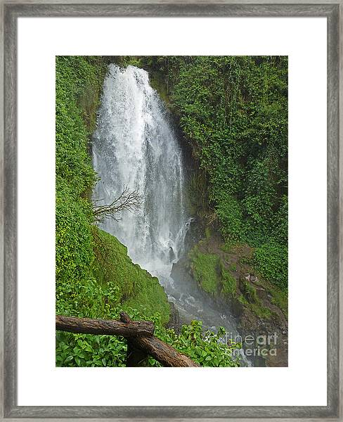 Headwaters Peguche Falls Ecuador Framed Print