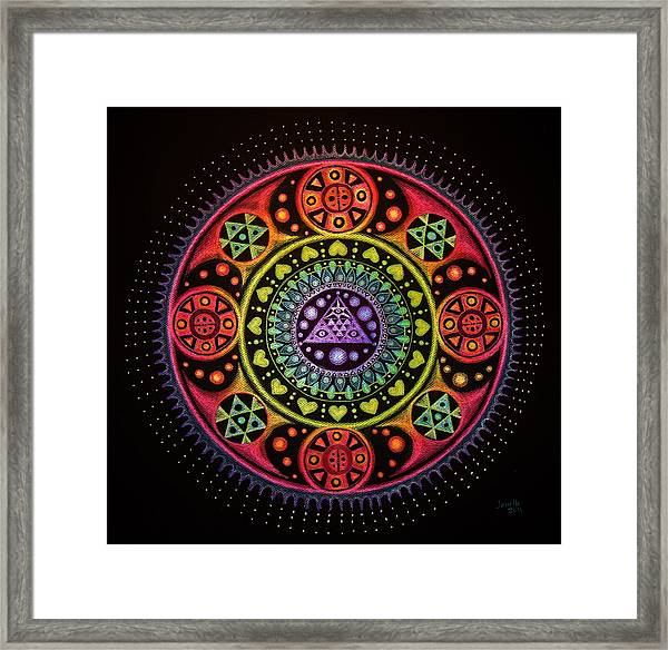 Meditation On Healing From Within Framed Print