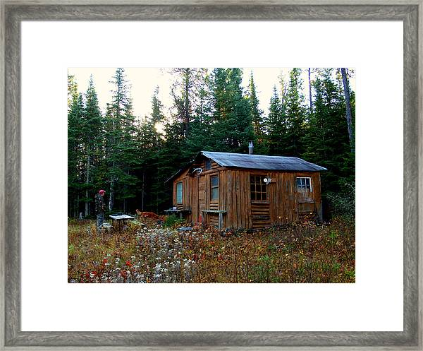 Heart Cabin Framed Print by Jessica Yudis