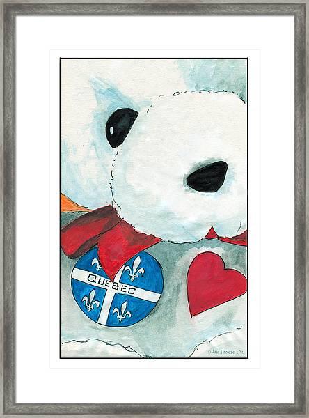 Heart Quebec Bear Framed Print