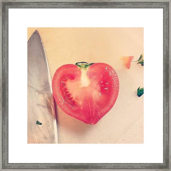 Heart Tomato Framed Print
