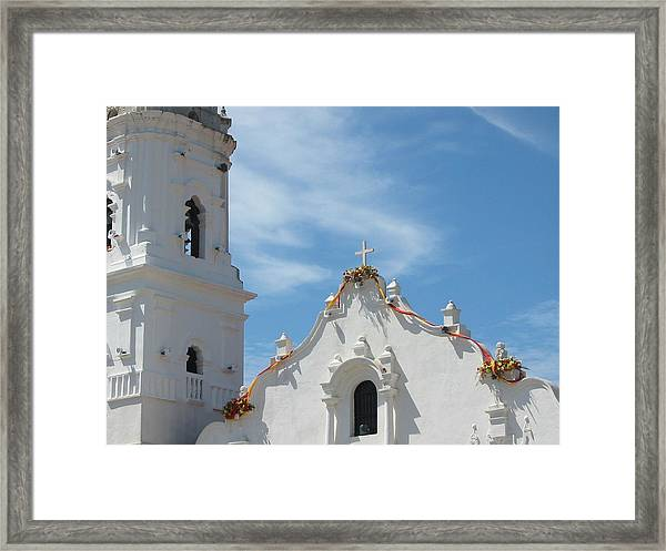 Heavenly Roofline Framed Print