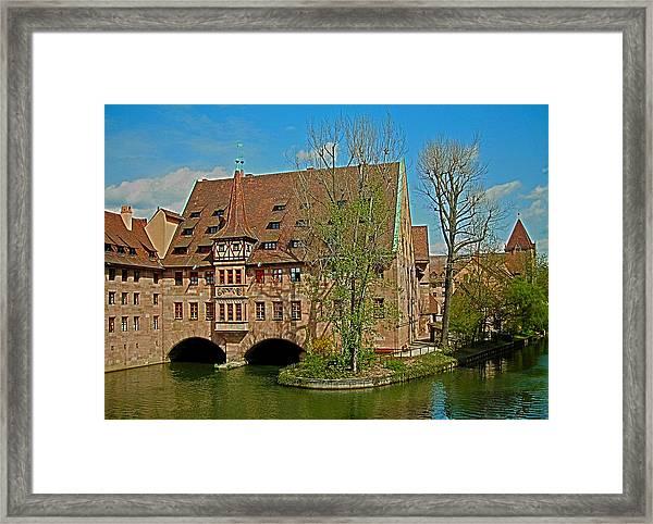 Heilig-geist-spital In Nuremberg Framed Print