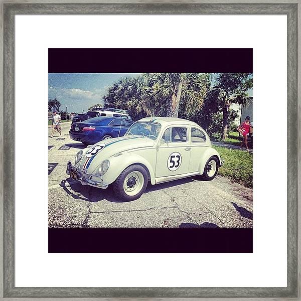 #herbie #53 #vw #volkswagen #passagrille Framed Print