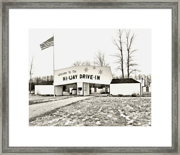 Hi-way Drive-in Framed Print