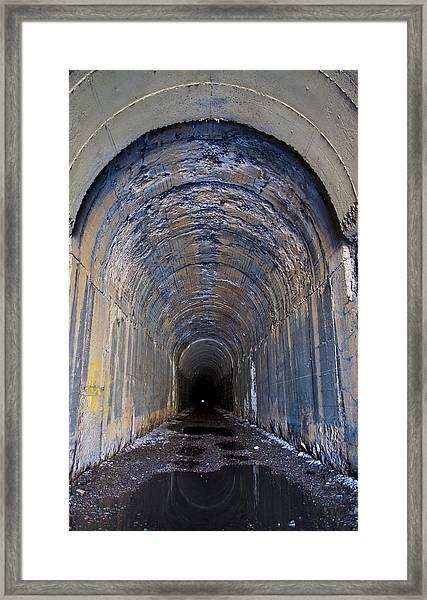 Hidden Tunnel Framed Print
