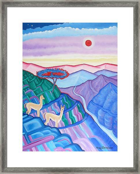 High Altitude Framed Print