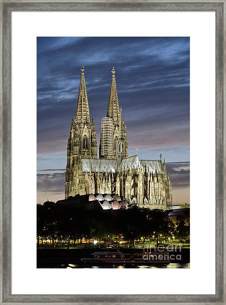 High Cathedral Of Sts. Peter And Mary In Cologne Framed Print