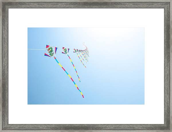 High Flying Kites Framed Print