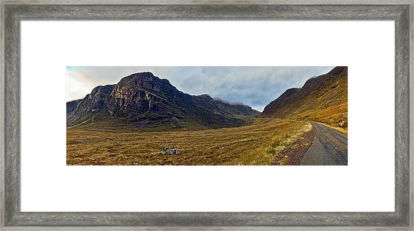 Highland Cliff Panorama Framed Print