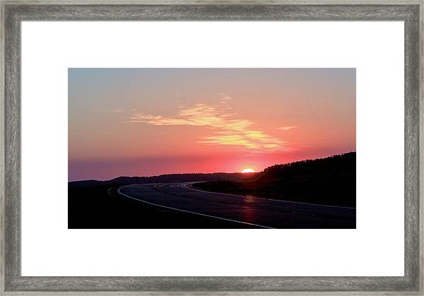 Highway To The Sky Framed Print
