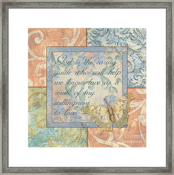 Hint Of Spring Butterfly 1 Framed Print