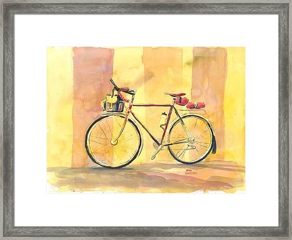 His Bike Remembered Framed Print