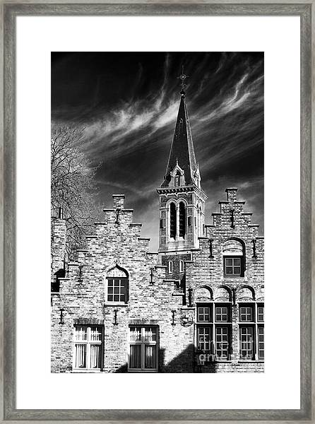 History In Bruges Framed Print by John Rizzuto