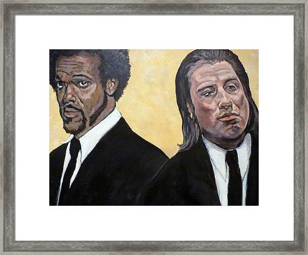Hit Men Framed Print