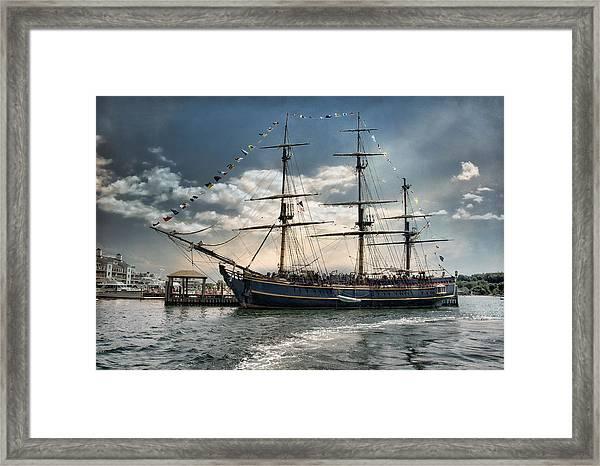 Hms Bounty Newport Framed Print