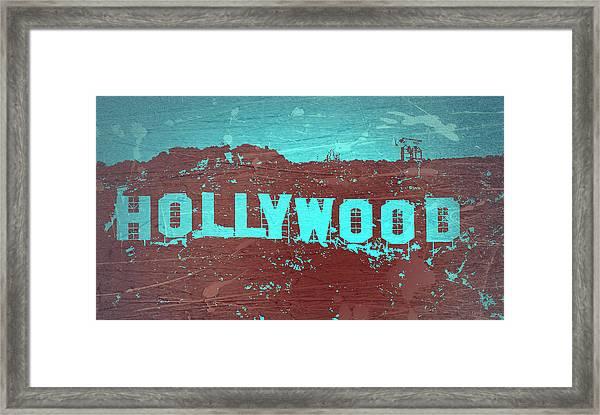 Hollywood Sign Framed Print