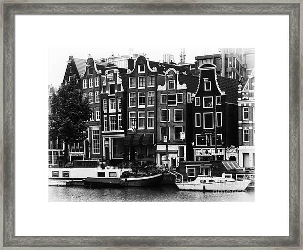 Homes Of Amsterdam Framed Print