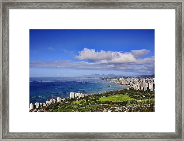 Honolulu From Diamond Head Framed Print