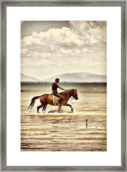 Horse Riding Framed Print