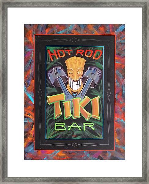 Hot Rod Tiki Bar Framed Print