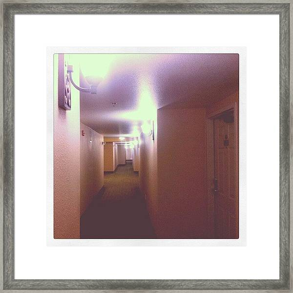 Hotel Nights Framed Print