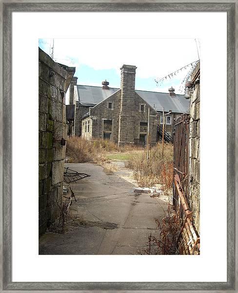 House Beyond The Gate Framed Print