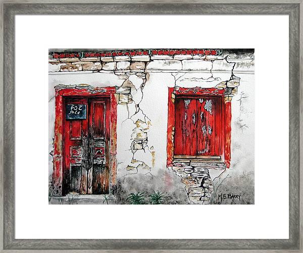 House For Sale Framed Print
