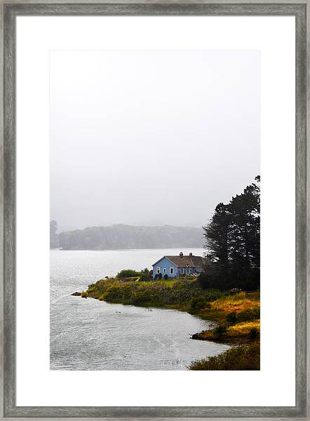 House On The Water - Vertical Framed Print