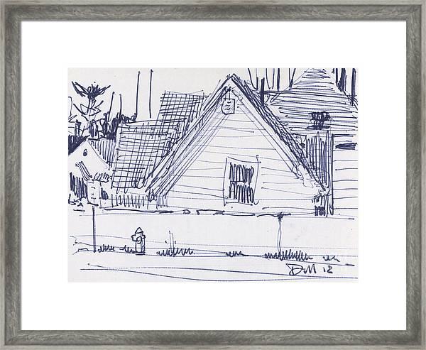House Sketch One Framed Print