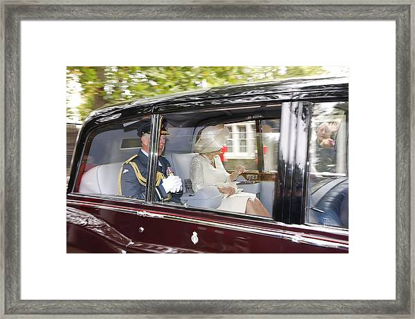 Hrh Prince Charles And Camilla Framed Print