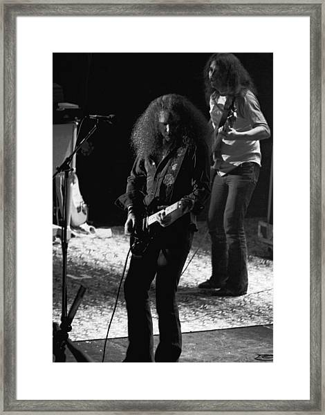 Hughie Thomasson And Frank O'keefe Of The Outlaws Framed Print
