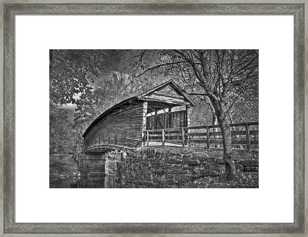 Framed Print featuring the photograph Humpback Bridge Bw by Williams-Cairns Photography LLC